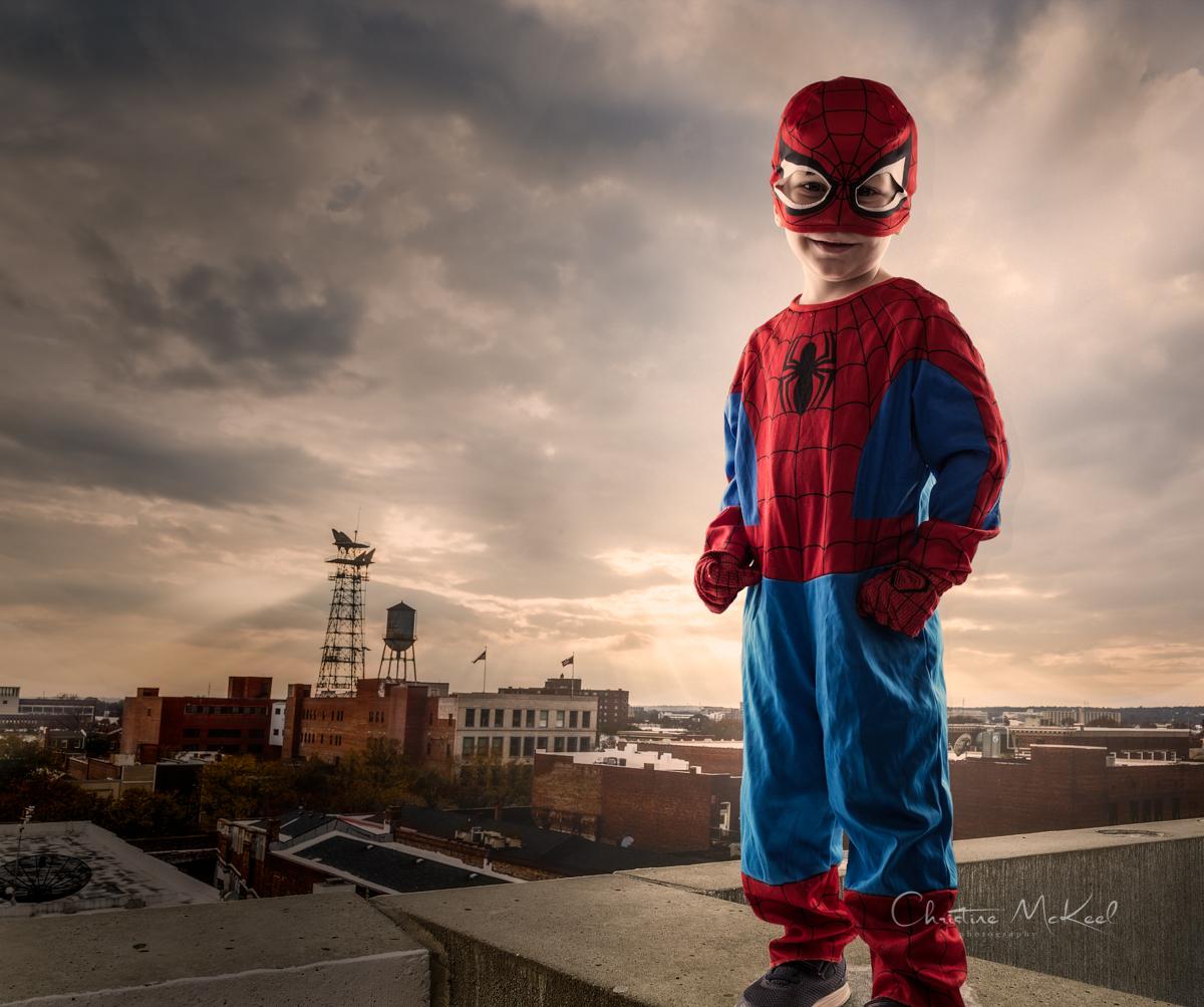 Spiderman protecting Augusta